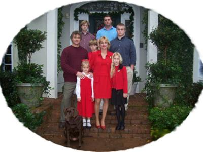 <FONT COLOR=#800000><b>AJ & Caroline Krause With Their Six Children</b></FONT>